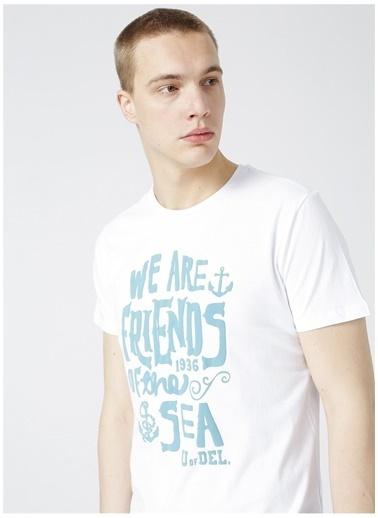 Limon Company Limon Erkek Beyaz Bisiklet Yaka T-Shirt Beyaz
